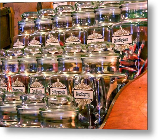 Candy Stick Store-color Metal Print
