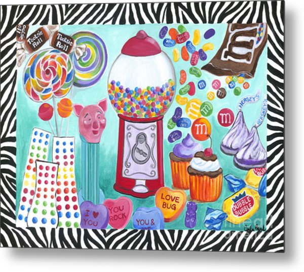 Metal Print featuring the painting Candy Window by Carla Bank