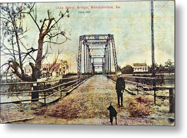 Cane River Bridge C1909 Metal Print