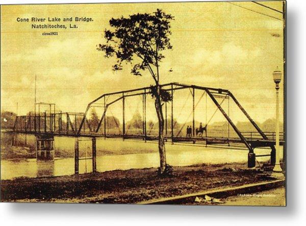 Cane River Lake And Bridge C1921 Metal Print