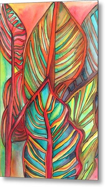 Canna Leaves Metal Print by Sacha Grossel