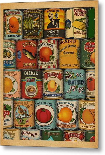 Canned Metal Print