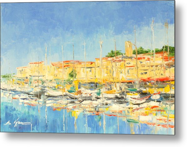 Cannes Harbour Metal Print