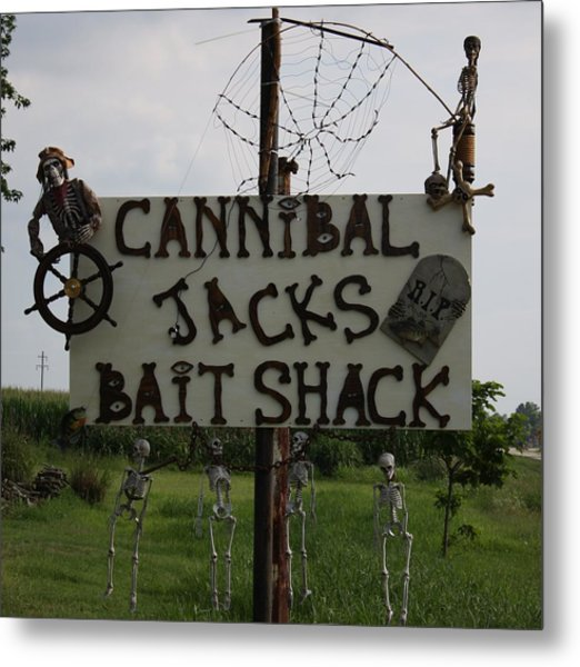Cannibal Jacks Bait Shack Metal Print by Terry Scrivner