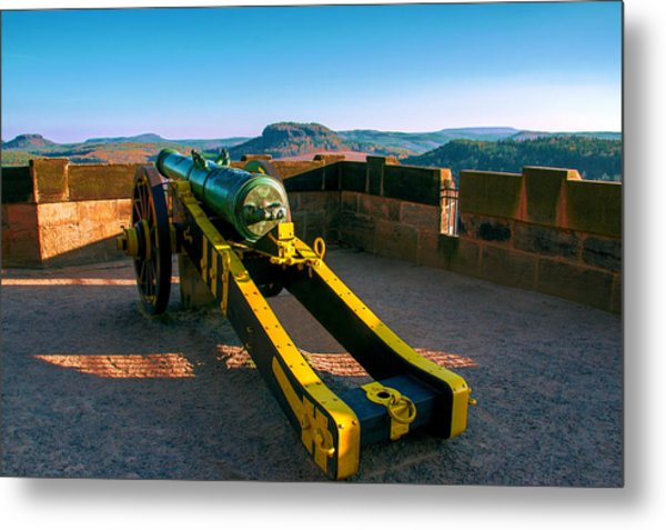 Cannon At The Fortress Koenigstein Metal Print
