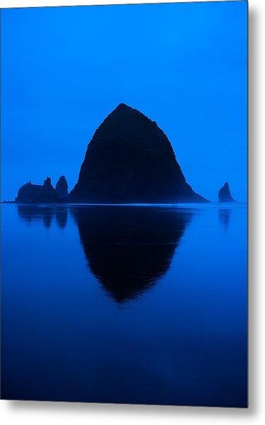 Cannon Beach Blue Metal Print