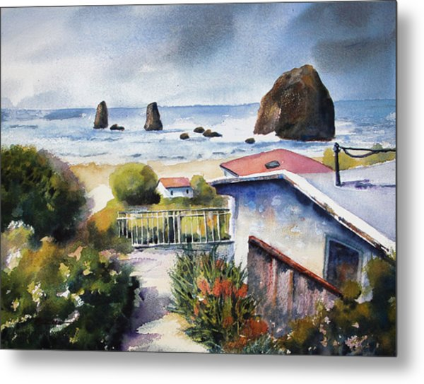 Cannon Beach Cottage Metal Print