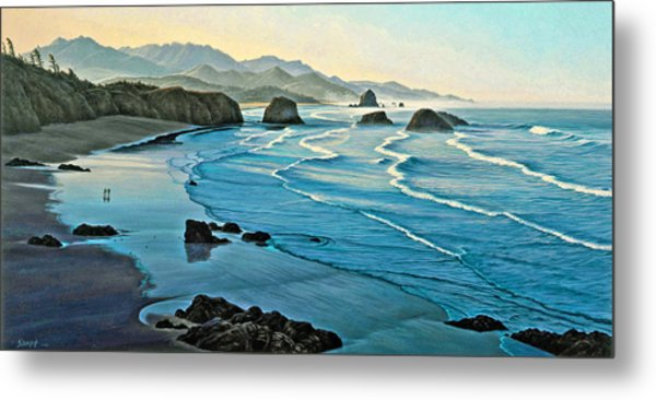 Cannon Beachcombers Metal Print