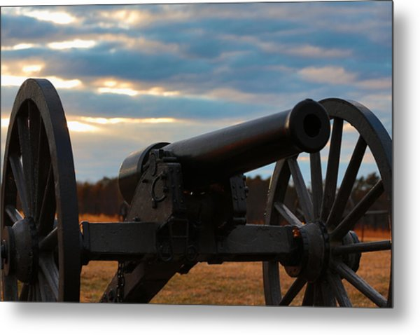 Cannon Of Manassas Battlefield Metal Print