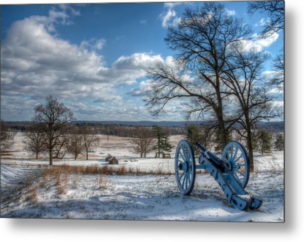 Cannon Overlooking Valley Forge National Historic Park Metal Print