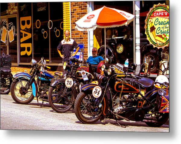 Cannonball Motorcycle Colors Metal Print