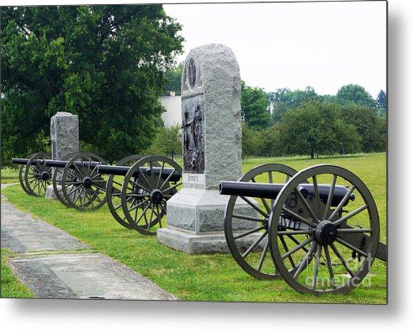 Cannons At Gettysburg Metal Print