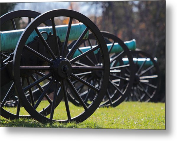Cannons Of Manassas Battlefield Metal Print