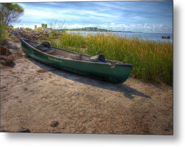 Canoe At Cedar Key Metal Print