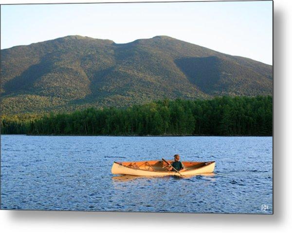 Canoeing Flagstaff Lake Metal Print