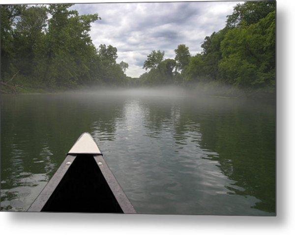 Canoeing The Ozarks Metal Print