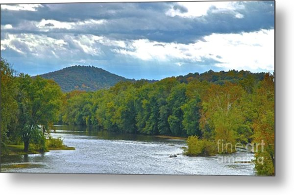 Canoeing The River Metal Print