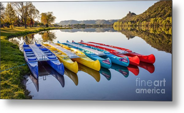 Canoes In The Early Morning II Metal Print