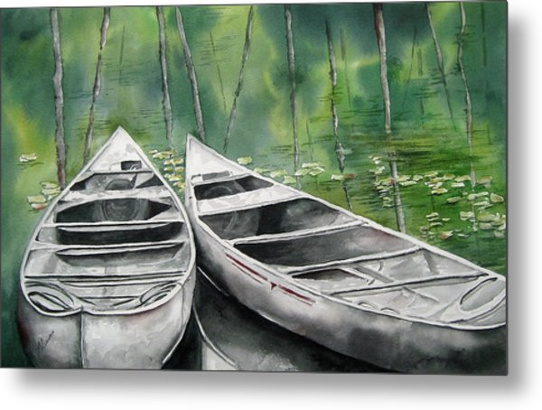 Canoes To Go Metal Print