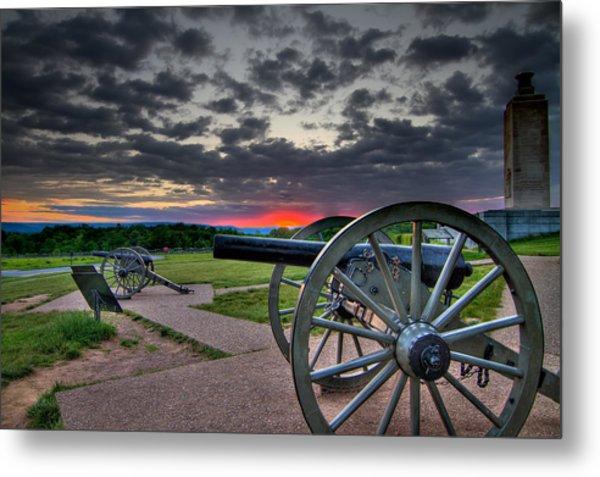 Canon Over Gettysburg Metal Print