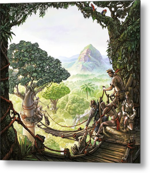 Canopy Walk Cover Art Metal Print
