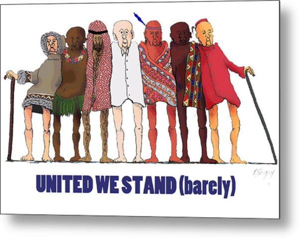 Can't We Just Get Along? Metal Print