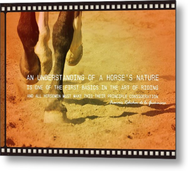Cantering Along Quote Metal Print by JAMART Photography