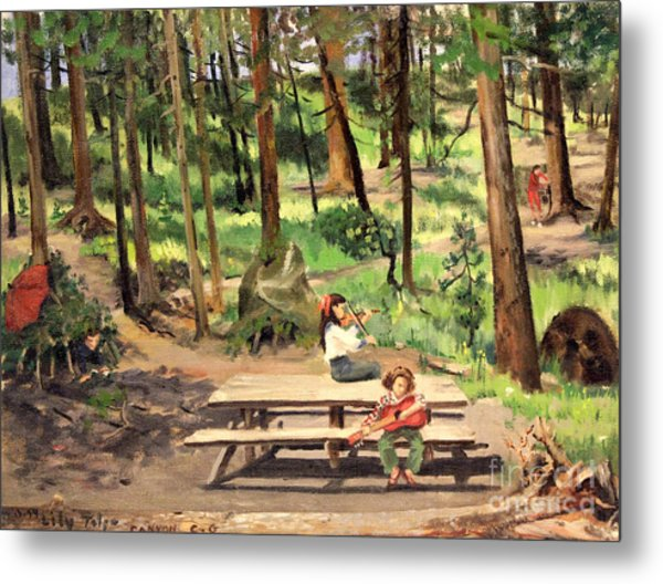 Canyon Campground - Yellowstone  1950's Metal Print