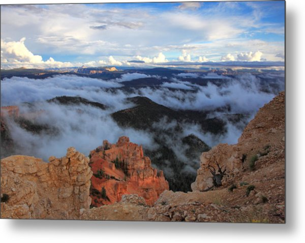 Canyon Clouds Metal Print