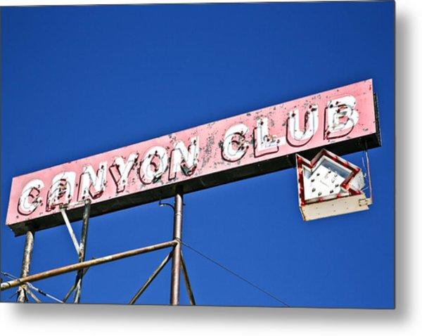 Canyon Club Metal Print