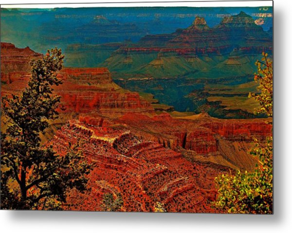 Canyon Colours Show Through Metal Print