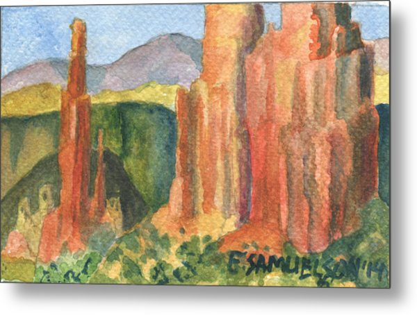 Canyon De Chelly Fantasy Metal Print