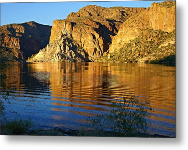 Canyon Lake Reflections Metal Print