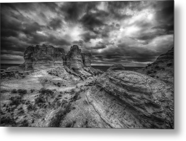Canyon Light And Clouds Metal Print