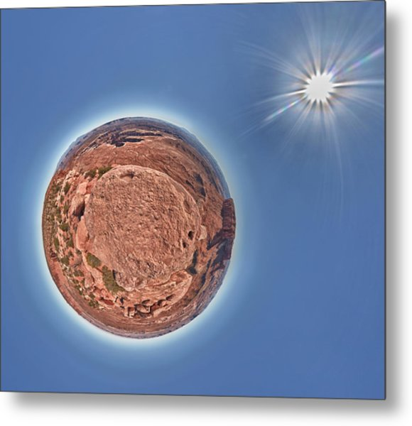 Canyonlands Little Planet Metal Print by Juan Carlos Diaz Parra