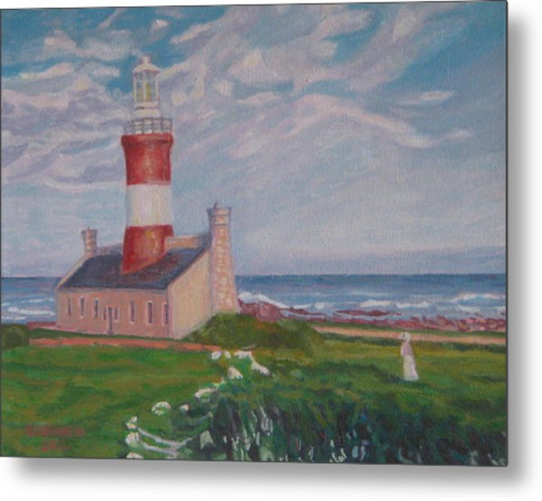 Cape Aghulas Lighthouse Metal Print