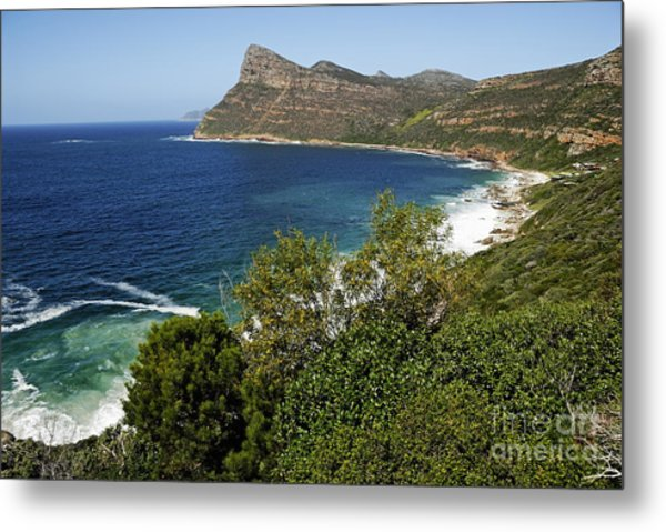 Cape And Cliffs Nearby Cape Point Metal Print by Sami Sarkis