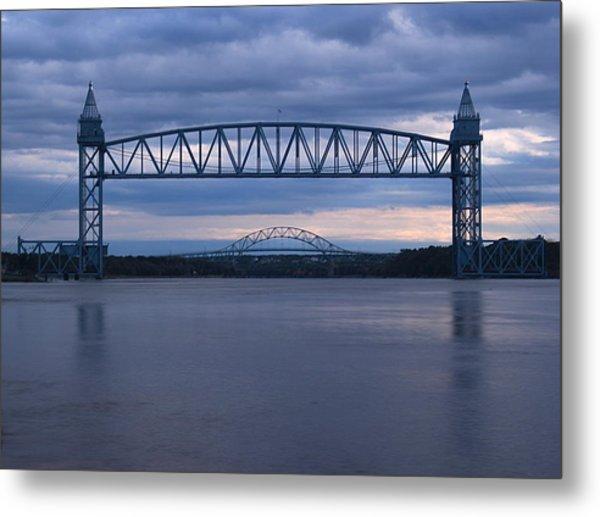 Cape Cod Train Bridge Metal Print