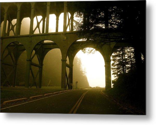 Cape Creek Bridge Metal Print