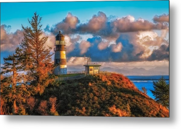 Cape Disappointment Light House Metal Print