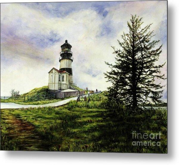 Cape Disappointment Lighthouse On The Washington Coast Metal Print