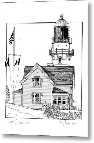 Cape Elizabeth Lighthouse Metal Print