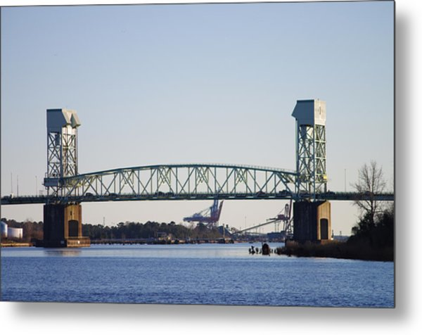 Cape Fear Memorial Bridge Metal Print