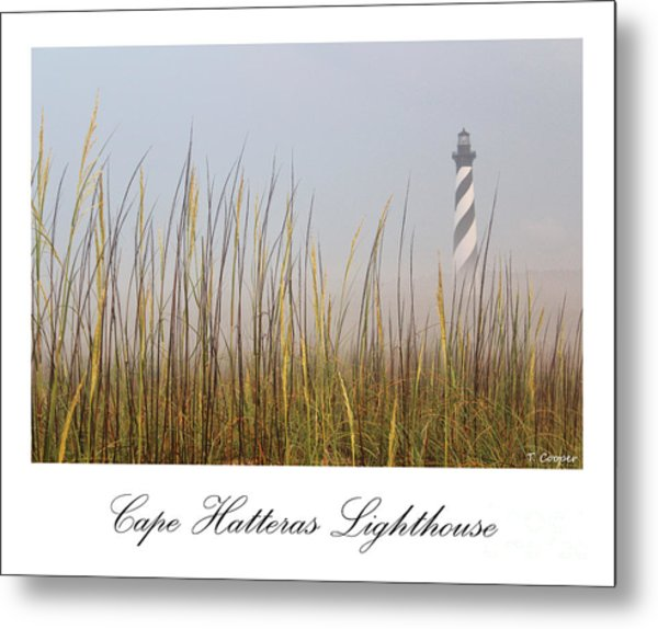 Cape Hatteras Lighthouse In The Fog Metal Print
