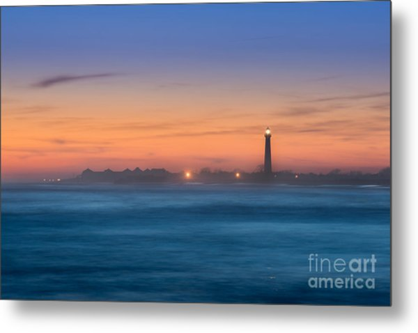 Cape May Lighthouse Sunset Metal Print