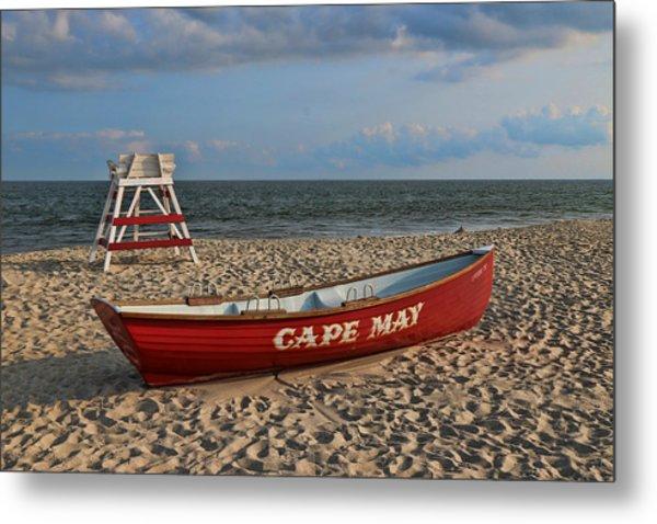 Cape May N J Rescue Boat Metal Print