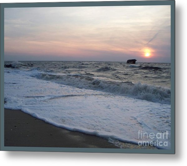Cape May Sunset Beach Nj Metal Print