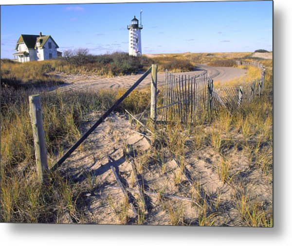Race Point Lighthouse Cape Cod Metal Print