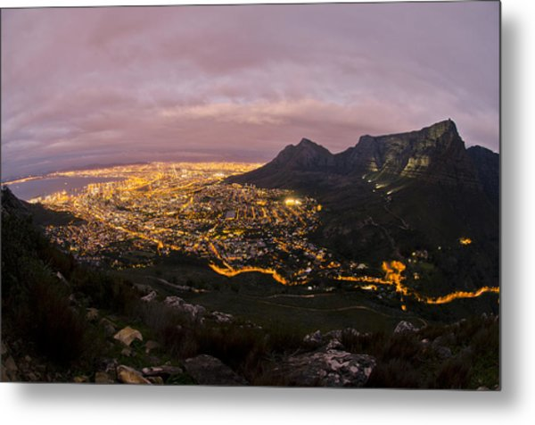 Cape Town Nights Metal Print by Aaron Bedell