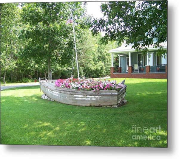 Cape Vincent Flowerboat Metal Print by Kevin Croitz